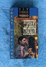 THE SPIDER'S STRATGEM VHS Tape 1970 Italian WWII Drama Bernardo Bertolucci RARE