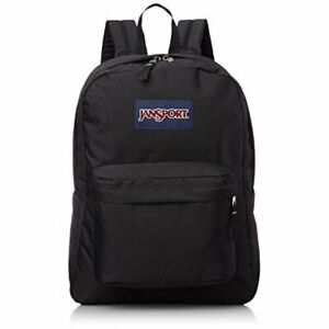 New JanSport Superbreak Classic Backpack, Black 100% AUTHENTIC
