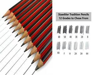 Staedtler Tradition Pencils Sketching Drawing - 6B 5B 4B 3B 2B B HB F H 2H 3H 4H