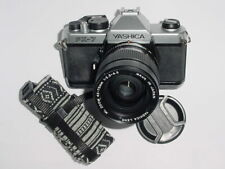 YASHICA FX-7 35mm Film SLR Manual Camera + Yashica 42-75mm F/3.5-4.5 Zoom Lens