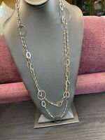 """Women's Ladies Necklace  Silver Tone Extra Long Sweater 60"""""""