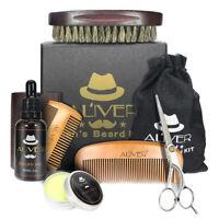 Beard Comb and Brush Grooming Set Home Travel Hair Kit Christmas Gift for Men FR
