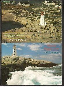 Canada, Nova Scotia, Prince Edward Island Lighthouse.  5 Postcards, Unposted