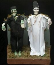 Halloween Skeleton Horror Dolls Frankenstein & Bride of Frankenstein Props