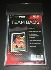 Pokemon Cards ( 100 ) ULTRA PRO TEAM BAGS Resealable TOPLOADER Sleeves TCG Lot 2