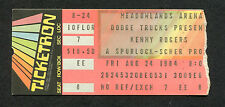 1984 Kenny Rogers Oak Ridge Boys concert ticket stub Meadowlands Arena
