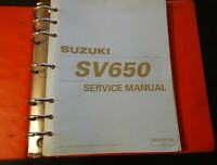 1999 SUZUKI MOTORCYCLE SV650 SERVICE MANUAL IN BINDER 99500-36090-03E  (451)