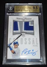2015 National Treasures Javier Baez Auto Jersey Nameplate /25 RC BGS 9.5/10 Cubs
