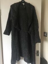Zara Grey Long Mohair Mix Cardigan size M
