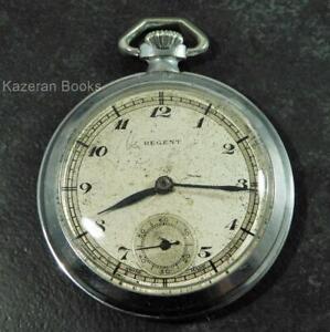 Working Antique REGENT Nickel Cased Fob Pocket Watch