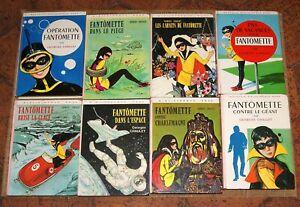 Lot 8  livres FANTOMETTE Georges Chaulet Bibliothèque rose années 70 80 hachette