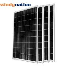 (4 pcs) 100W Watts 100 Watt  Solar Panel Off Grid 12 Volt 12V RV Boat Off Grid