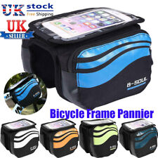 Cycling Bike Bicycle Front Frame Pannier Double side Tube Bag For Mobile Phone