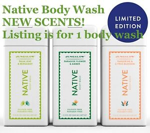 1 NATIVE Natural SULFATE FREE Moisturizing SPA WORTHY Body Wash CHOOSE 1 of 10