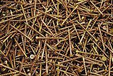 (500) Torx T20 Star Flat Head 8 x 2 Yellow Zinc Type 17 Outdoor Wood Screw