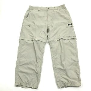 Columbia GRT Mens Convertible Pants Size L PACKABLE OMNI-DRI Nylon 26 Inseam