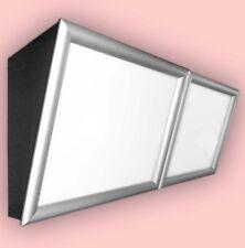 LED-Menüboard -Speisekarte geneigt 2 Fenster & Klapprahmen, Backlite 1000x600 mm