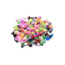 Lot of 40 14G Belly Button Rings Bioflex Piercing Jewelry No Duplicates
