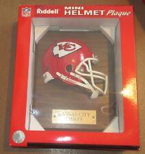 Kansas City Chiefs Riddell Mini Football Helmet Plaque MIB
