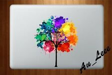 Macbook Air Pro Vinyl Skin Sticker Decal - Painted Colourful Tree  #CMAC023
