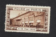 TIMBRE-VIGNETTE , FOIRE DE PARIS 1932