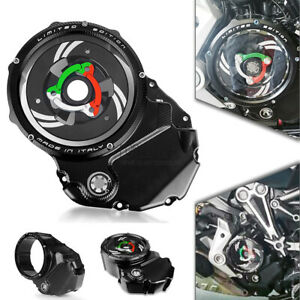 Clear Clutch Cover&Spring Retainer Ring For Ducati Diavel /X 1200 1260 2016-2020