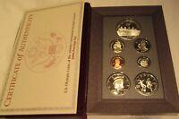 1996 Prestige Proof Set U.S. Mint COA  7 coin Rowing Silver Dollar Key Date