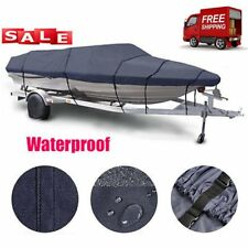 17 -19ft Trailerable Boat Cover Waterproof Heavy Duty Fishing Ski Bass V-hull LM