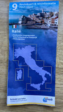 travel Map ITALY Route road routekaart ANWB travel information folding paper