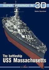 WW2 American Battleship USS Massachusetts Super Drawings 3D 16027 Reference Book
