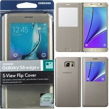 Samsung Galaxy S6 Edge Plus S-View Protective Flip Cover Gold, EF-CG928PFEGUS