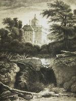 Grabado c1874 El Castillo Según Jacob Von Ruysdael. Escritor: Flameng Castle