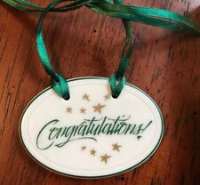 1994 Longaberger Tie-on CONGRATULATIONS!!Banner Oval for Your Basket 31496