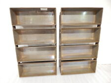 """2 Ea.Ekco # D Welded Commercial 4 Loaf Bread Pan Size 19.5 By 11.5 By 3"""" Vintage"""