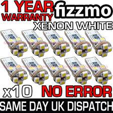 10x 8 SMD LED 501 T10 W5W Zeppa Canbus Nessun errore libero Xenon Bianco Lato Lampadina