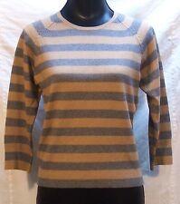 Paul Smith Women's Striped Sweater XL Camel Grey Stripe