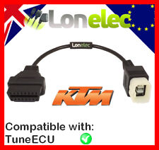 KTM 6 PIN TO 16 PIN ADAPTOR INTERFACE CABLE - TRIUMPH KTM BIKE TUNEECU