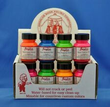 Angelus  Acrylic Leather, Vinyl Shoe Paint-NEON Starter Kit w/ 12 Colors- NEW