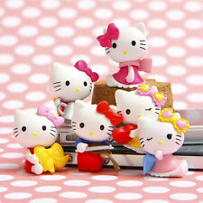 6pcs Hello Kitty Anime Figure Kids Birthday Gift Toy Collectible Cake Topper