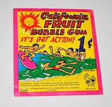 Standard Specialty California Fruit Gumball Machine Vending Display Card 1970s