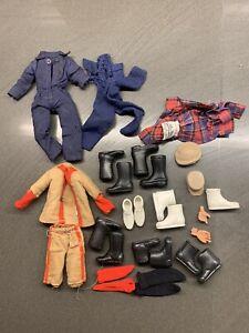 VINTAGE MEGO ACTION JACKSON CLOTHES BOOTS LOT