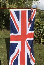 Union Jack Flag with Ceremonial 8ft Rosewood Pole, Brass Finial and Storage Bag