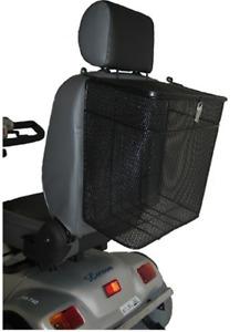 Korb für Elektromobil hinten Befestigung an Kopfstütze Heckkorb zum verschließen
