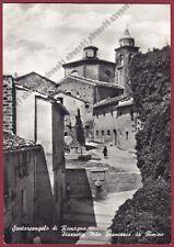 RIMINI SANTARCANGELO DI ROMAGNA 39 Cartolina viaggiata 1959 real photo