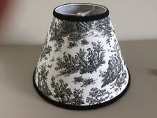 Jamestown Black & White French Country Toile Pastoral Lamp Shade Chandelier