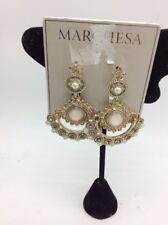 $78 Marchesa gold tone multi stone drop statement earrings M604