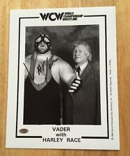 VADER Signed Autograph 8.5x11 WCW PROMO Photo WWF WWE TNA ROH With HARLEY RACE