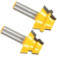 2pcs 1/2 Inch Shank Carbide Lock Miter Router Bit Wood Milling Cutter Tool