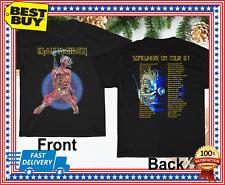 1987-Iron-Maiden Somewhere On Tour Unisex T-Shirt Regular Size S-3XL Hot REPRINT