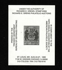 Opc 1995 109th Aps Convention Richard E Drews Advertising 39313